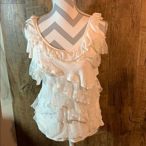 Eyeshadow Lace tiered Tank top size Large